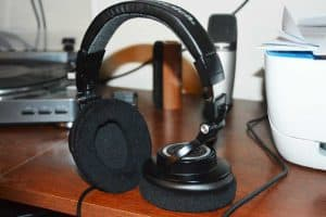 Audio Technica ATH M50 with new velour pads
