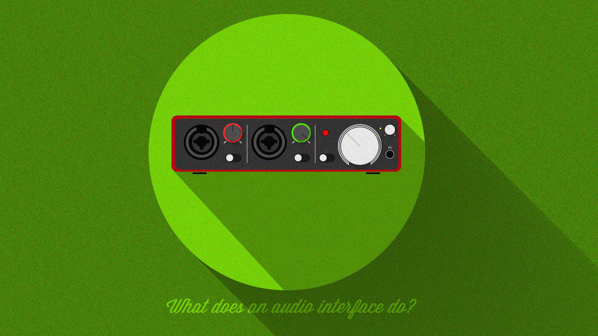 What does an audio interface do?