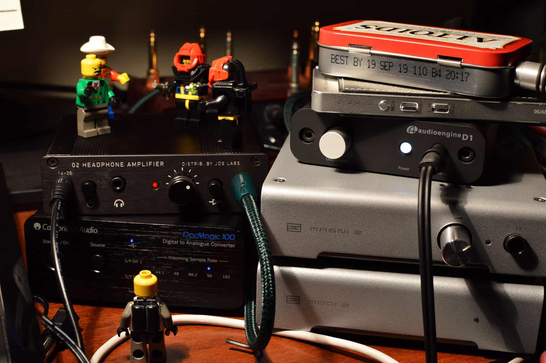 The Jds Labs Objective 2 Headphone Amp Mr Clean Of Amps 30mw True Ground Class G Amplifier With Volume Control Here I Was Comparing Audioengine D1 This Time Pairing It A Dac Magic 100