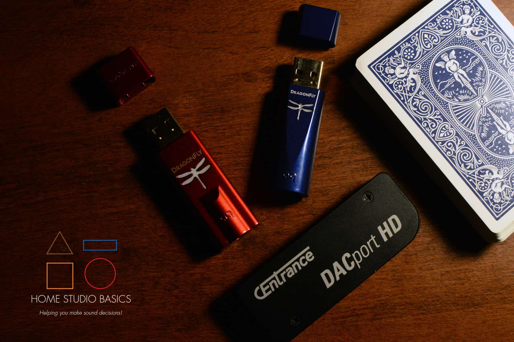 AudioQuest DragonFly Red vs. Cobalt vs. CEntrace DACport HD